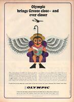 1967 Original Advertising' Vintage Olympic Airways Airlines Ever Closer Grecia