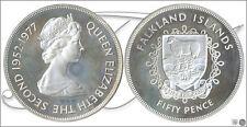 Falkland - Monedas Conmemorativas- Año: 1977 - numero KM00010a - PROOF 50 Peniqu