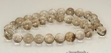 12MM SMOKY QUARTZ GEMSTONE ROUND LOOSE BEADS 7""
