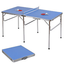 "60"" Portable Table Tennis Ping Pong Folding Table w/Accessories Indoor Game New"