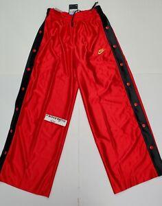 Nike Womens Sportswear Icon Clash Popper Pants Size Medium Red Black CI9972-657