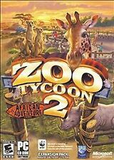 Zoo Tycoon 2: African Adventure (PC, 2006) Rated E10+, Expansion Pack, PC CD-ROM