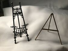 MINIATURES  METAL EASEL AND WOODEN EASEL