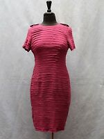 D0 Authentic BURBERRY LONDON Magenta Silk Chiffon Short Sleeve Sheath Dress Sz 6