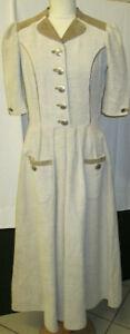 Damen Trachten Cord Kleid beige Gr. 38 von Trachten Hohen Salzburg