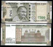 "Rs.500/- Urjit Patel  Star Note ""E"" Inset  Prefix 8LA  2017 - UNC  LATEST"