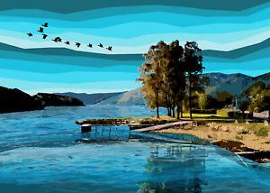 Loch Earn Scotland  Limited Edition Print By Sarah Jane Holt