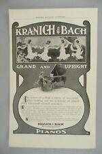 Kranich & Bach Piano PRINT AD - 1905