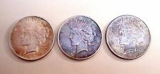LOT OF THREE 1922, 1923 PEACE LIBERTY SILVER ONE DOLLAR COIN