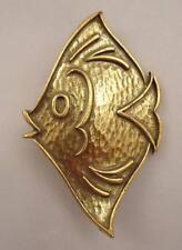 Vtg Coro Angel Tropical Fish Yellow Regal Tang Finding Nemo Pin Brooch NICE