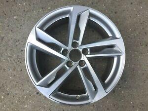 """1 x Audi A1 S1 GB 82A S Line 17"""" 5 Twin Spoke DT SILVER GENUINE OEM Alloy Wheel"""