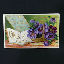 Postcard ~ To The Loved Ones At Home Embossed Printed Germany Serie No. 7063