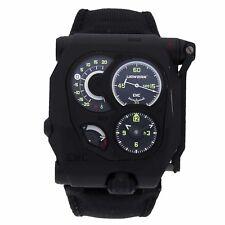 Urwerk EMC Manual DLC Titanium Mens Strap Watch Power Reserve EMC
