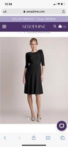Gorgeous Seraphine Luxe Black Maternity Evening Dress UK 12