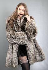 3745 GORGEOUS REAL SILVER FOX COAT LUXURY FUR JACKET BEAUTIFUL LOOK SIZE M