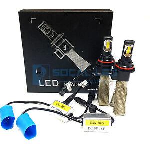Fanless LED Headlight Kit 9007 6000K Xenon White Canbus Conversion Hi/Lo Bulbs