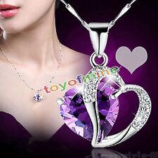 Gioielliin  a catena di modo delle donne di cristallo del cuore con strass
