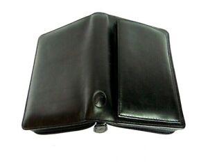 FILOFAX POCKET BELGRAVIA PHONE PORT DELUXE BLACK LEATHER ORGANISER BOXED