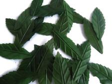100 Artificial Leaf Leaves Craft, Green  flowers Wedding Foliage Fake decoration
