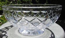 STUNNING VINTAGE STUART DIAMOND CUT CRYSTAL LARGE MASTER BOWL