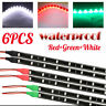 """12"""" Boat Bow Navigation LED Lighting Submersible Marine Strips Red Green White"""