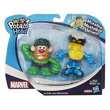 NIB Hasbro Playskool Mr. Potato Head Mash Up Marvel Figure Wolverine & The Hulk