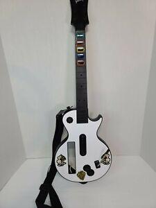 Nintendo Wii Guitar Hero Gibson LES PAUL Red Octane Guitar 95125 White Tested