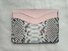 Handmade Python Leather Card Wallet, Card Holder, Business Card