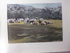 ALGERIE/Gravure 19°in folio couleur/ Une halte de nomades