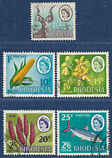 Rhodesia 1967-8 sg 408-12 used Dual Currency set of 5