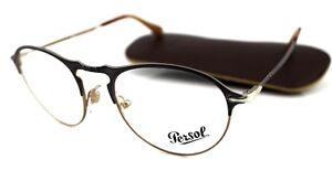 NEW Genuine PERSOL Matte Grey Light Brown Eyeglasses Frame PO 7092V 1071 50 mm