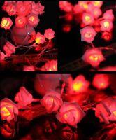 20-LED Rose Flower Fairy Wedding Garden Christmas Party Decor Xmas String Lights