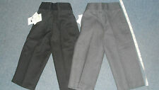 BOYS PULL-UP SCHOOL NURSERY TROUSERS TEFLON AGE 1-2 TO AGE 7-8 GREY OR BLACK NEW