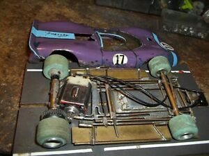 VINTAGE BRASS CHASSIS SLOTCAR 8