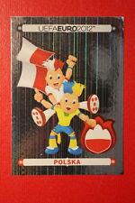 Panini EURO 2012 N. 49 POLSKA BADGE  NEW With BLACK BACK TOPMINT!!