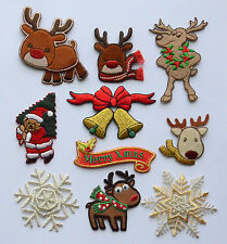 Christmas Craft Embroidered Motif Iron/Stick On Embroidery Patch Embroideries