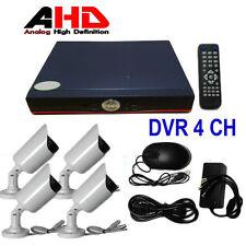 KIT COMPLETO VIDEOSORVEGLIANZA AHD P2P DVR 4 CANALI 4 TELECAMERE INFRAROSSI CAVI