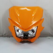 Orange Street Fighter Bike Motorcycle Universal Dirt Bike Headlight Headlamp