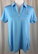 Women's Peter Millar Blue 1/2 Zip Polo The Patriot Golf Club Size XL UPF 50 +