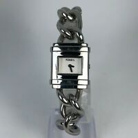 Fossil Womens ES2652 Silver Tone Stainless Steel Quartz Bracelet Watch