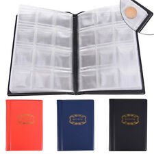 120Slots Pockets Coin Album Holders 10 Pages for Coins Collector Collection Book