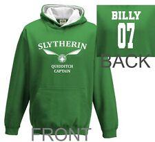 Harry Potter Hoodie Quidditch Hoodie Top Jumper Personalised slytherin