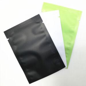 Open Top Matte Aluminum Foil Storage Bag Vaccum Seal Snack Food Mylar Pack Pouch