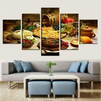 Delicious Meal Poster Food Wall Art Restaurant Kitchen Home Decor 5pCanvas Print