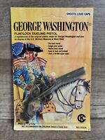 GEORGE WASHINGTON Flintlock Dueling Pistol Cap Gun Miniature  Sealed Vintage New
