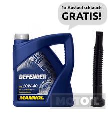 10W-40 Motoröl 5 Liter MANNOL Defender VW 501.01 505.00 MB 229.1 + SCHLAUCH