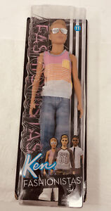Barbie Fashionistas Ken Doll #11 Hyped On Stripes New in Package 2016