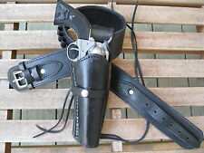 "Gun Belt Combo - .45 Caliber - Smooth Holster - Black - Leather - 34"" to 52"""