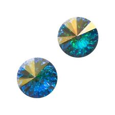 Genuine Swarovski 1122 Rivoli Round Stones Crystal AB F 12mm Pack of 2 (E100/8)
