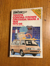 Toyota Corona Crown Cressida Mark II Van 1970-1986 Shop Service Repair Manual 85
